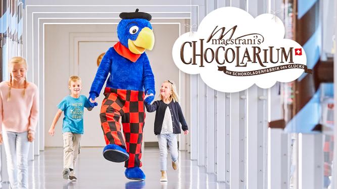 Globi's Erlebnis Rundgang Maestrani's Chocolarium Flawil bei St. Gallen Biglietti