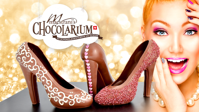 Schokoladen-High Heel Giesskurs Maestrani's Chocolarium Flawil bei St. Gallen Tickets