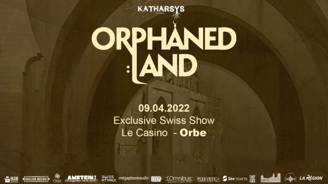 Orphaned Land 30th anniversary tour Casino Orbe Billets