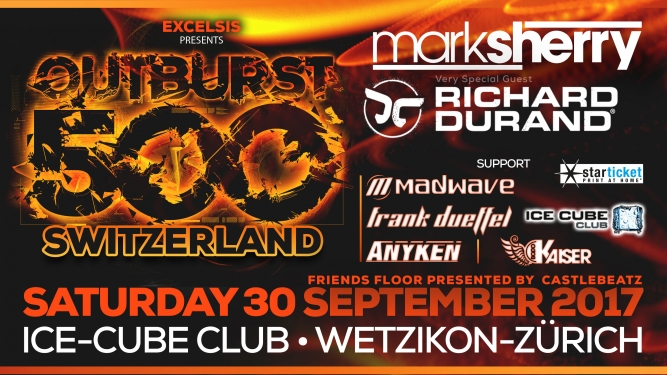 Excelsis presents Outburst500 World Tour Ice Cube Club Wetzikon (ZH) Tickets