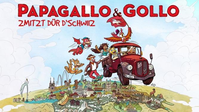 Papagallo & Gollo - Zmitzt dür d'Schwiiz Chollerhalle Zug Tickets