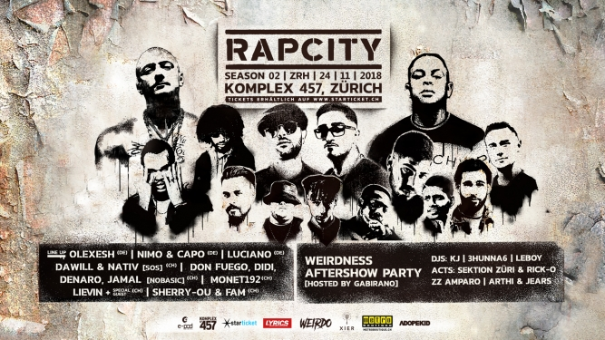 Rap City Season 02 Komplex 457 Zürich Tickets