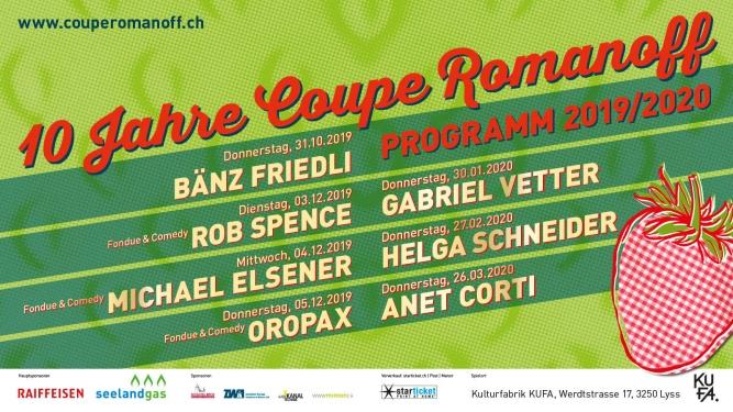 10 Jahre Coupe Romanoff Kulturfabrik KUFA Lyss Lyss Tickets