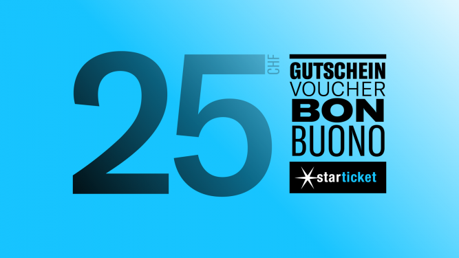 Voucher worth CHF 25.00 Diverse Locations Diverse Orte Tickets