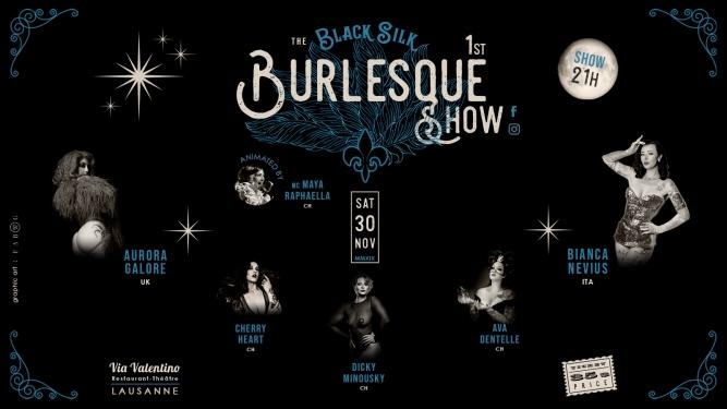 The Black Silk Burlesque Show Via Valentino Restaurant-Théâtre Lausanne Biglietti