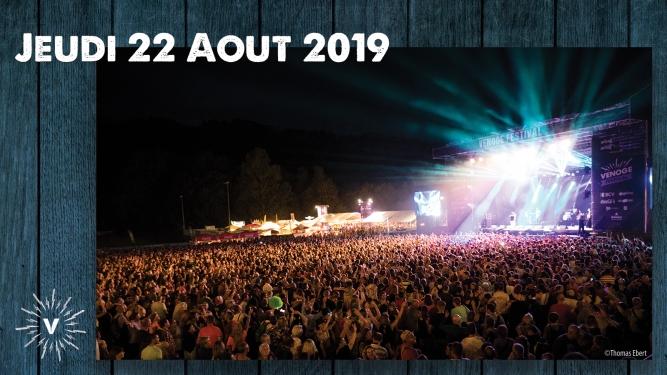 Jeudi 22.08.2019 Venoge Festival Penthalaz Biglietti