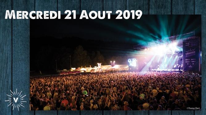 Mercredi 21.08.2019 Venoge Festival Penthalaz Biglietti