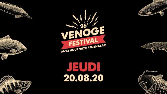 Jeudi 20.08.2020 Venoge Festival Penthalaz Tickets