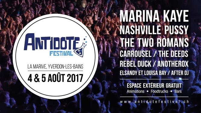 Antidote Festival La Marive Yverdon-les-Bains Billets