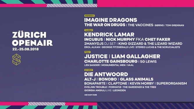 Zürich Openair 2018 Festivalgelände Glattbrugg Tickets