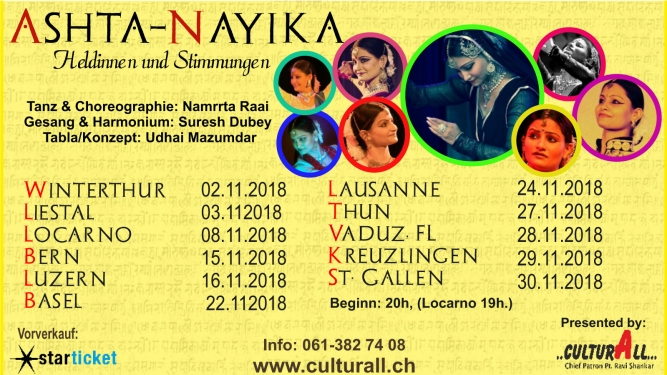 Asht-Nayika Several locations Several cities Tickets