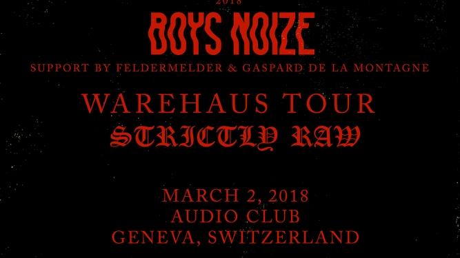 Boys Noize Audio Club Genève Biglietti
