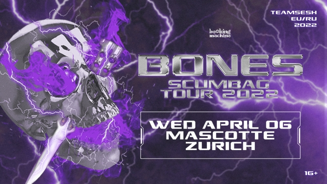 Bones (TeamSESH, USA) Mascotte Zürich Tickets