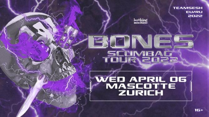 Bones (TeamSESH, USA) Mascotte Zürich Tickets