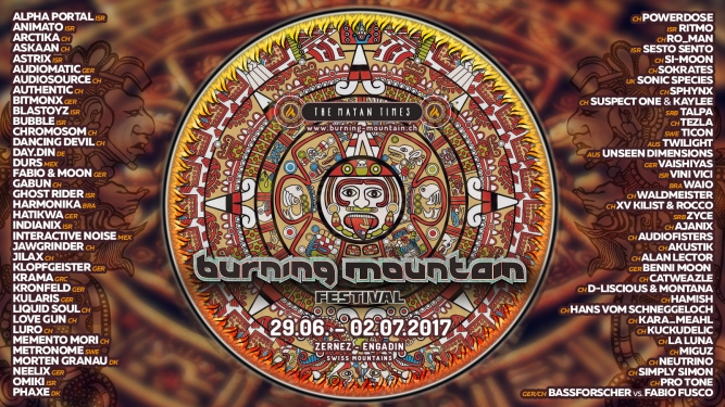 Burning Mountain Festival 2017 Festivalgelände Praschitsch Zernez Tickets