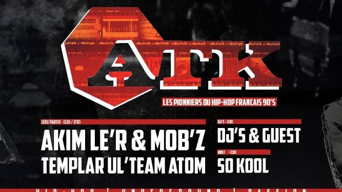Hip-Hop don't stop avec ATK Case à Chocs Neuchâtel Billets