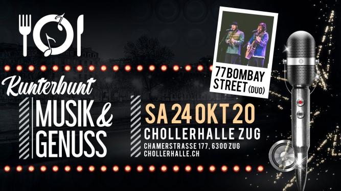 KUNTERBUNT mit 77 BOMBAY STREET Chollerhalle Zug Tickets