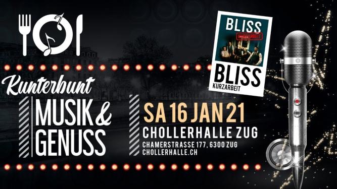 KUNTERBUNT mit Bliss Chollerhalle Zug Tickets