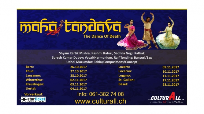 Mahatandava - The dance of death Tabourettli Basel Tickets