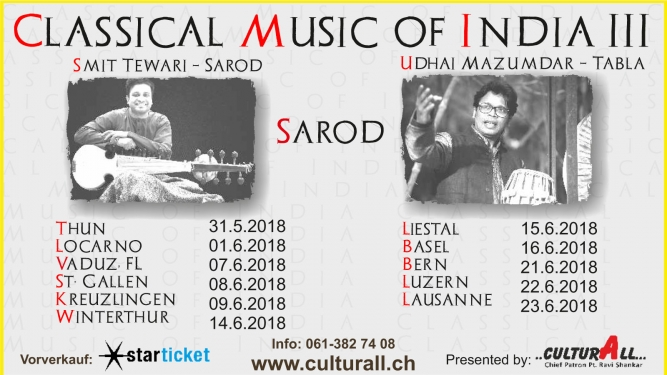 Classical Music of India III Diverse Locations Diverse Orte Tickets