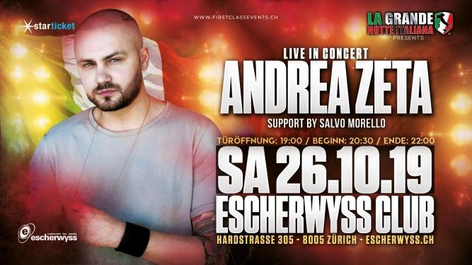 Andra Zeta Live in Concert Escherwyss Club Zürich Zürich Tickets