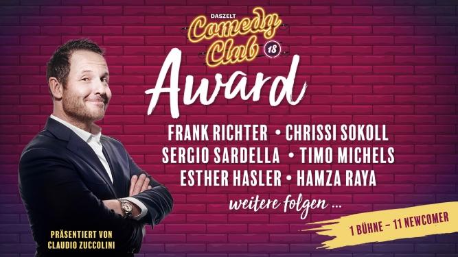 Comedy Club 18 Award DAS ZELT Zug Tickets
