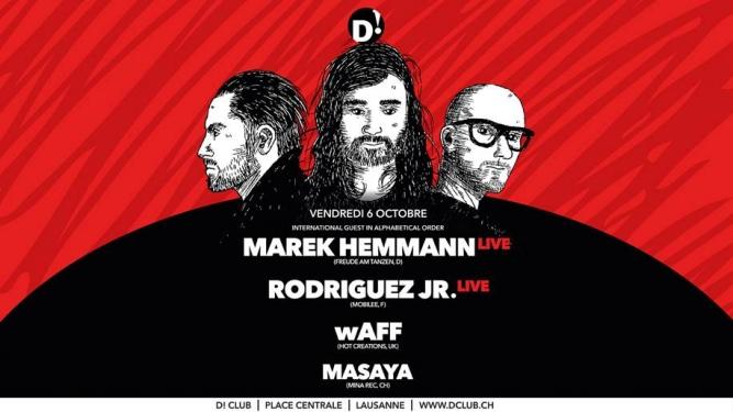 Marek Hemman live D! Club Lausanne Tickets