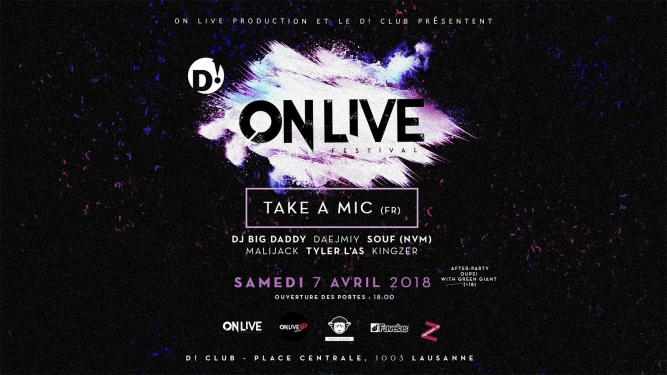 On Live Festival D! Club Lausanne Billets