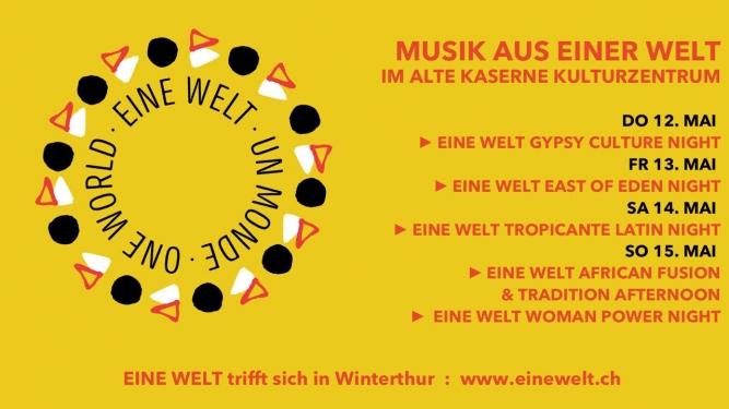 Eine Welt in Winterthur 2016 Alte Kaserne Kulturzentrum Winterthur Biglietti