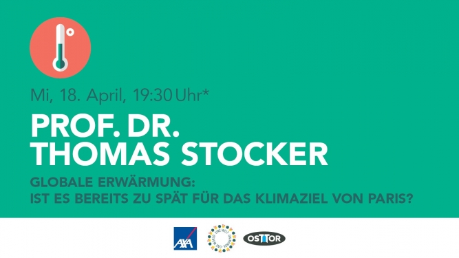 Prof. Dr. Thomas Stocker OSTTOR Winterthur Biglietti