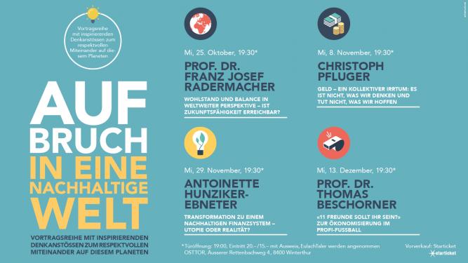 Aufbruch in eine nachhaltige Welt OSTTOR Winterthur Biglietti