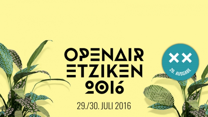 Openair Etziken 2016: 2-Tagespass (Early-Bird) Festivalgelände Etziken Tickets