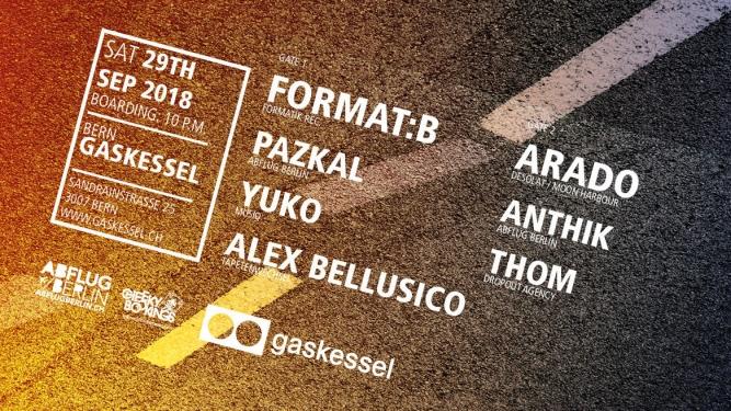 Abflug Berlin w/ Format B. Gaskessel Bern Tickets
