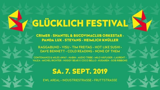 Glücklich Festival 2019 - Festivalpass Diverse Lokale Luzern Tickets