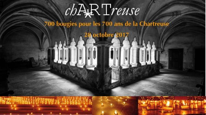 700 bougies pour les 700 ans de la Chartreuse Cloître de la Chartreuse de La Lance Concise Billets