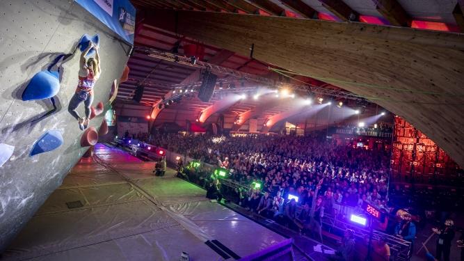 Tribüne Kombi Halbfinal und Final Boulderarena, Kletterhalle Haslital Meiringen Biglietti