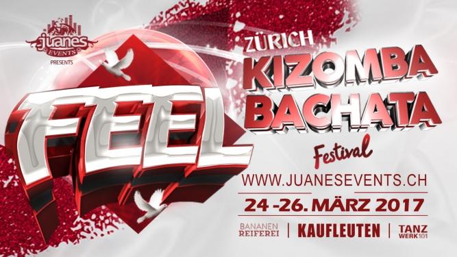 Juanes Feel Kizomba & Bachata Festival 2017 Kaufleuten Klub - Bananenreiferei & Tanzwerk 101 Zürich Tickets