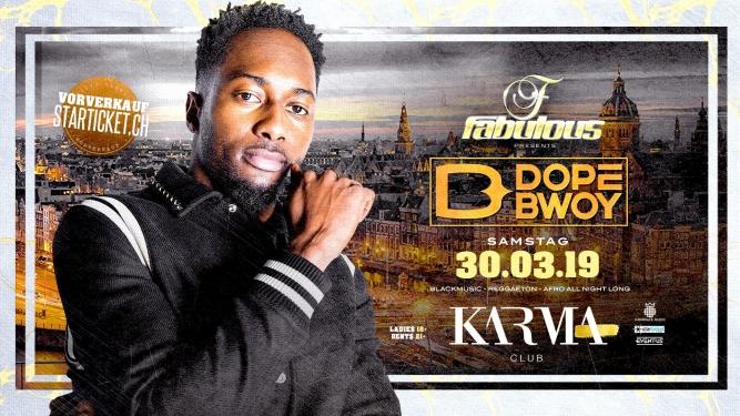 Dopebwoy Live On Stage Karma Club Bern Tickets