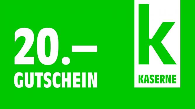 Geschenkgutschein im Wert von CHF 20.00 Kaserne Basel Tickets