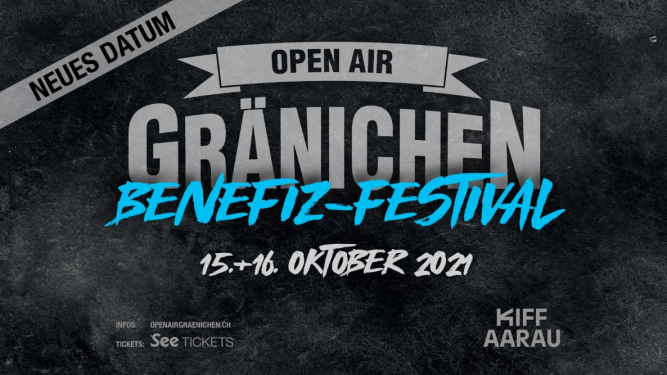 Openair Gränichen Benefiz-Festival Kiff, Saal Aarau Tickets