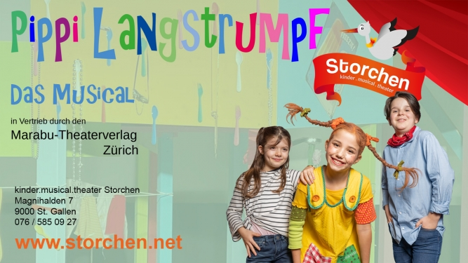 Pippi Langstrumpf Kinder.musical.theater Storchen St.Gallen Billets