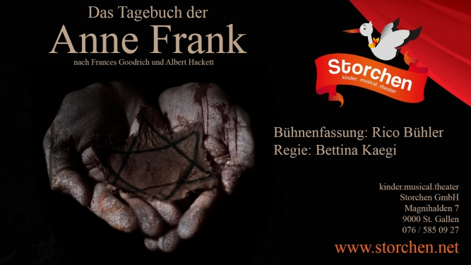Das Tagebuch der Anne Frank Kinder.musical.theater Storchen St.Gallen Billets