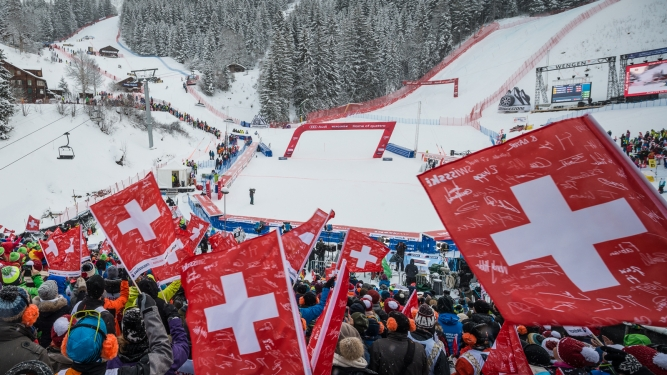 88. Internationale Lauberhornrennen Zielarena Innerwengen Wengen Billets