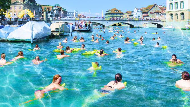 54. Zürcher Limmatschwimmen Frauenbadi Stadthausquai Zürich Tickets