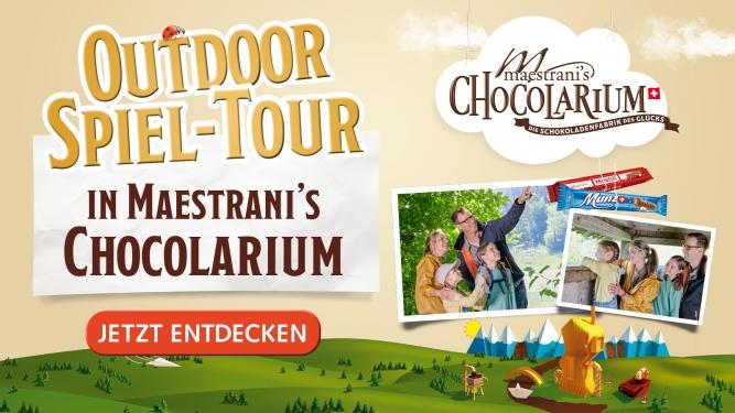 Maestrani's Chocolarium Outdoor Spiel-Tour Maestrani's Chocolarium Flawil bei St. Gallen Biglietti
