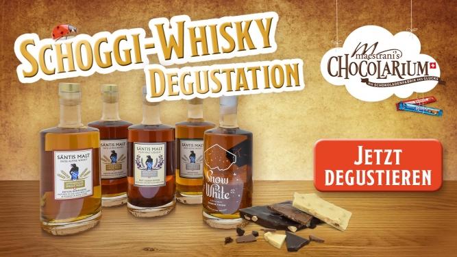 Maestrani: Schoggi-Whisky-Degustation Maestrani's Chocolarium Flawil bei St. Gallen Tickets