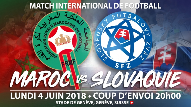Maroc vs Slovaquie Stade de Genève Genève Billets