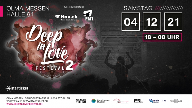 Deep In Love Festival 2 Olma Halle 9.1 St.Gallen Tickets