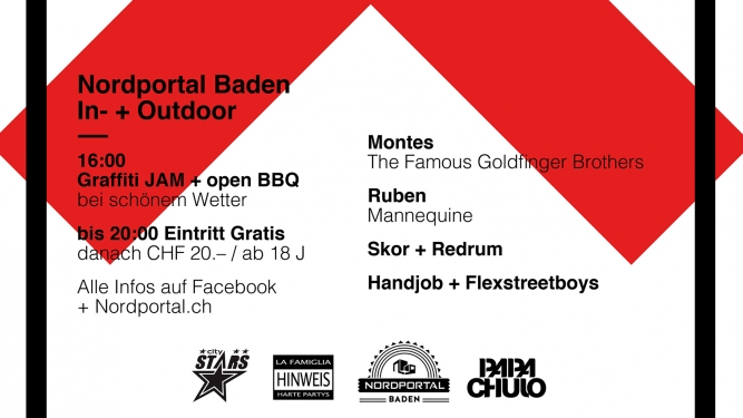 Baden ist. Party Nordportal Baden Tickets