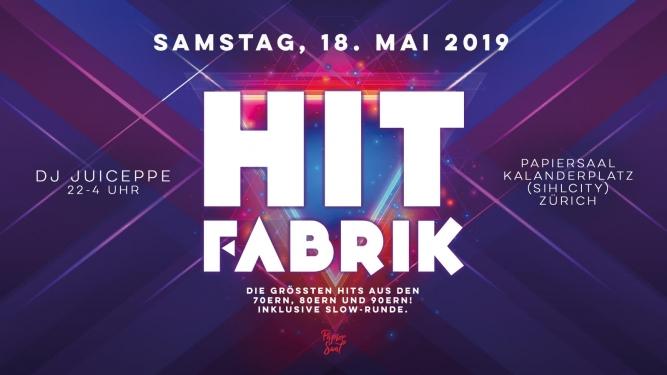 Hit Fabrik - 70er, 80er, 90er Papiersaal (Sihlcity) Zürich Tickets